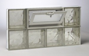 Bronze Pattern Glass Block Window