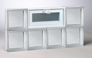 Clear Pattern Glass Block Window