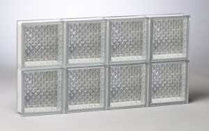 Diamond Pattern Glass Block Window