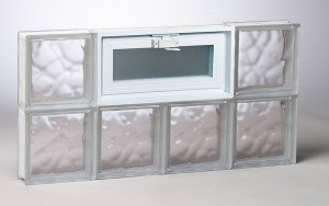 Wavy Pattern Glass Block Window